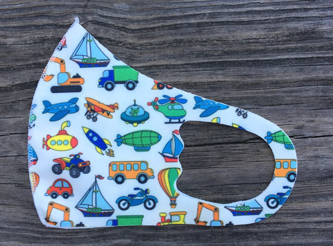 Kids Face Mask - Planes trains & automobiles