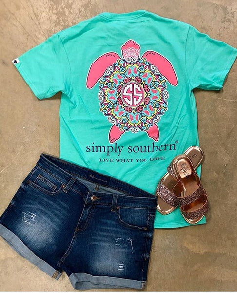 Simply Southern Save the Turtles Mandala Tee