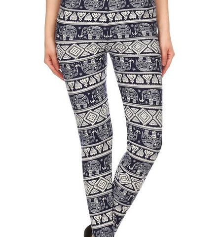 Navy Elephant LUSH Leggings