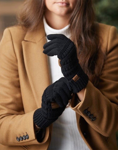 CC brand smart touch gloves - black