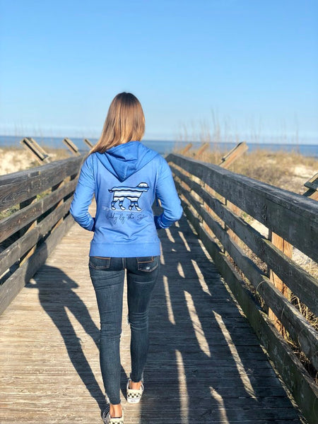 Buddy by the Sea Azure Wave ZIP Hoodie