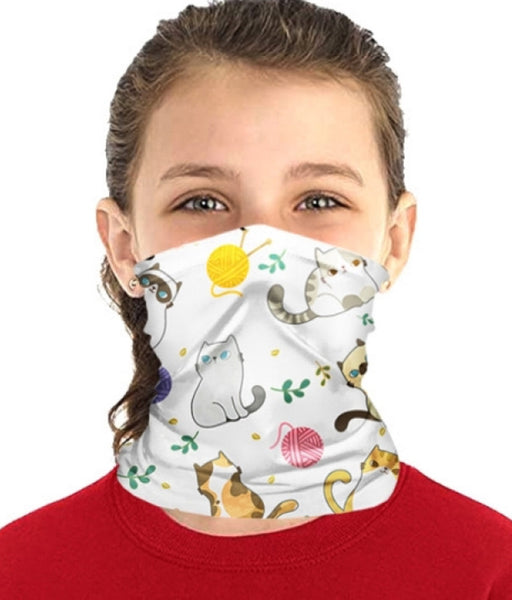 Children's Neck Gaiter/face mask - Kitty cat