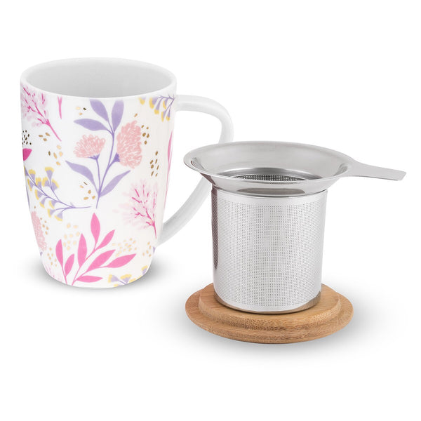 Pinky Up - Bailey Botanical Bliss Ceramic Tea Mug & Infuser by Pinky Up