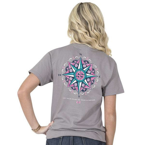 Simply Southern Compass Grey Tee