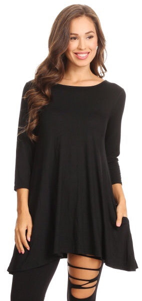 Basic Black Tunic