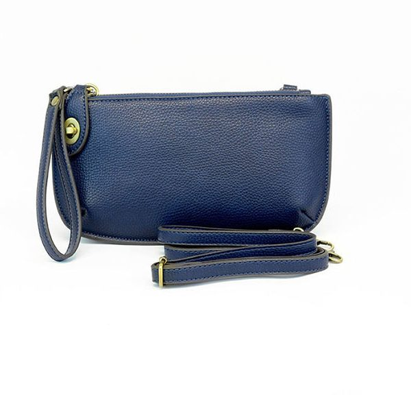 Mini Crossbody Wristlet Clutch- Navy