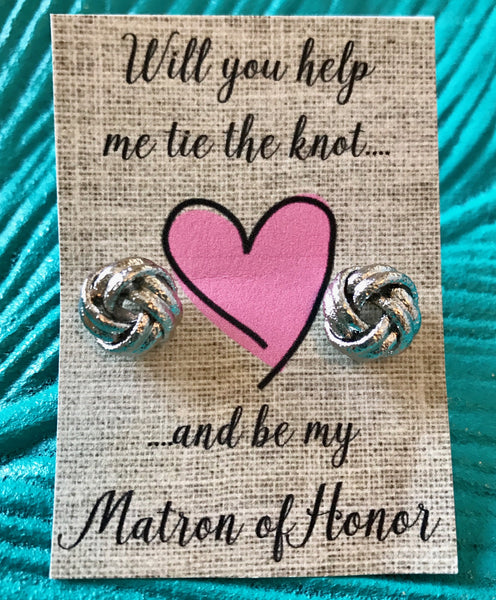 Love Knot Earrings-Matron of Honor