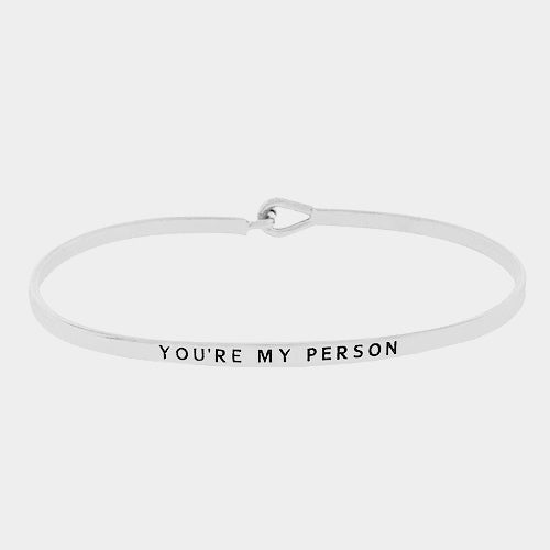 "Clarabands ""You're my person"" bangle"