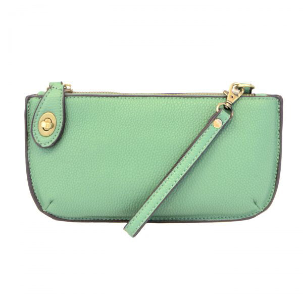 Mini Crossbody Wristlet Clutch- Green Turquoise
