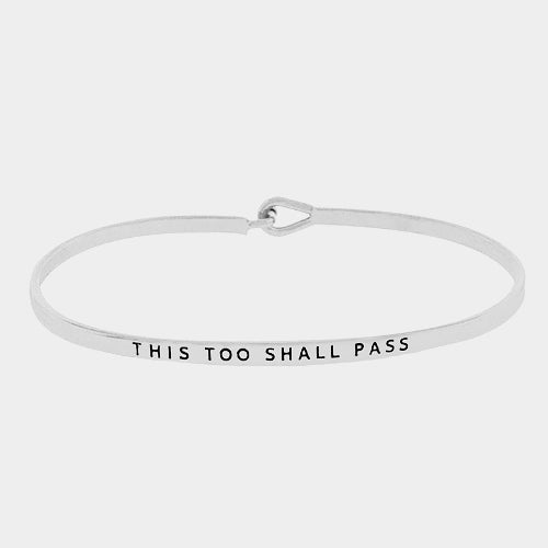 "Clarabands ""This Too Shall Pass"" Bracelet"