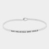 "Clarabands ""She Believed She Could"" Bracelet"