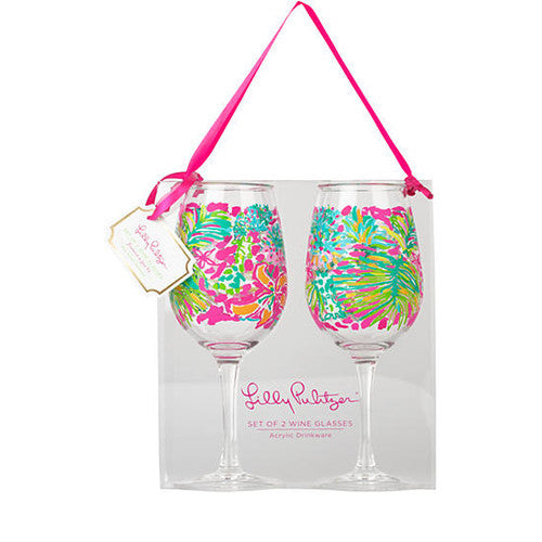 Lilly Pulitzer® Acrylic Wine Glasses