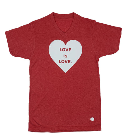 LOVE IS LOVE. | V-NECK TEE | *LIMITED EDITION*