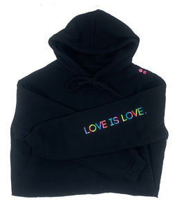 LOVE IS LOVE. | CROP HOODIE |