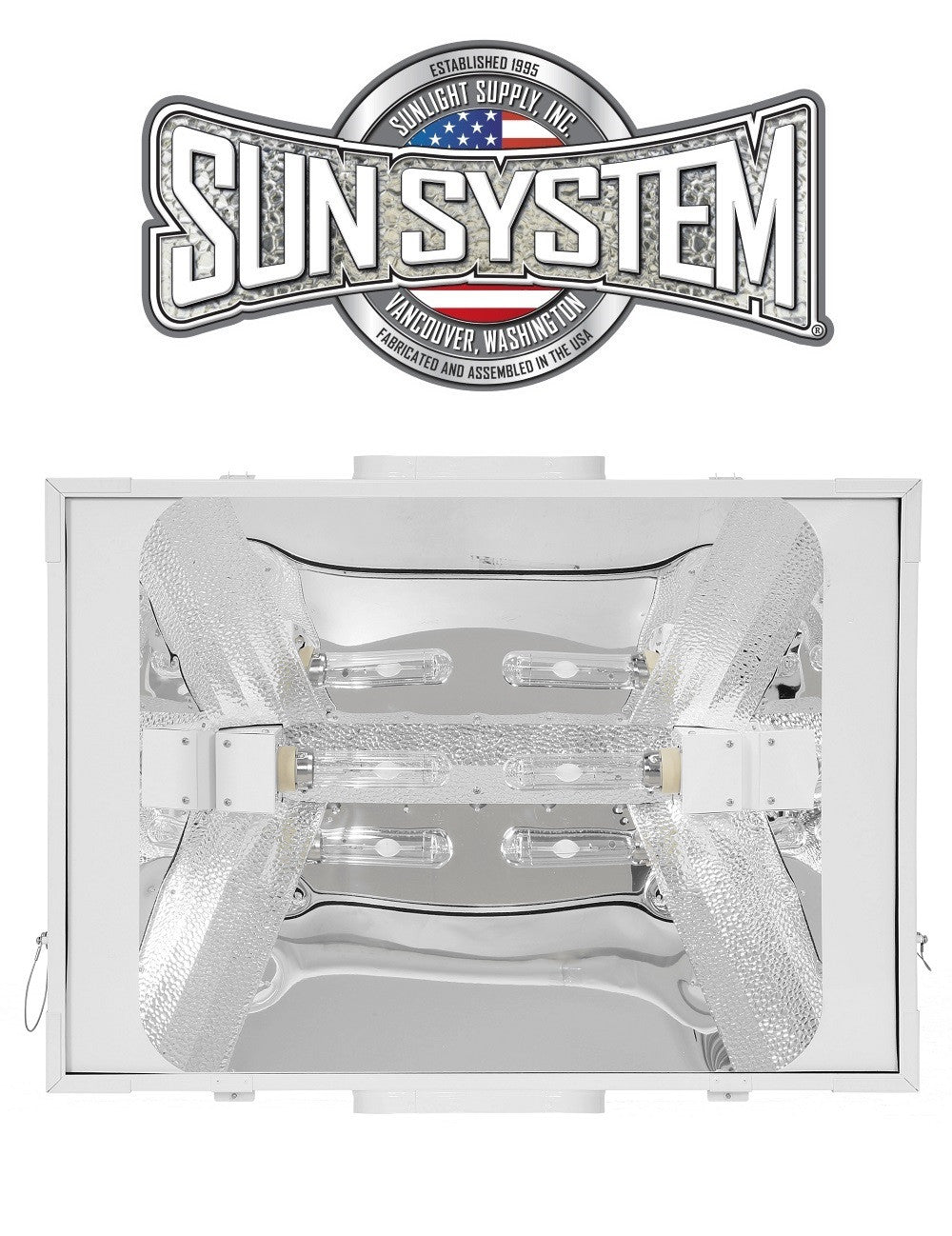 Sun System LEC 630W CMH Ceramic Metal Halide Air-Cooled 8 Light Fixture 208-240v