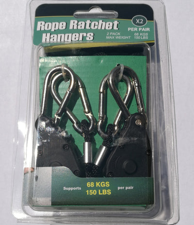 1 X Pair of Rope Ratchet Hangers for Horticultural Lighting Fixture System