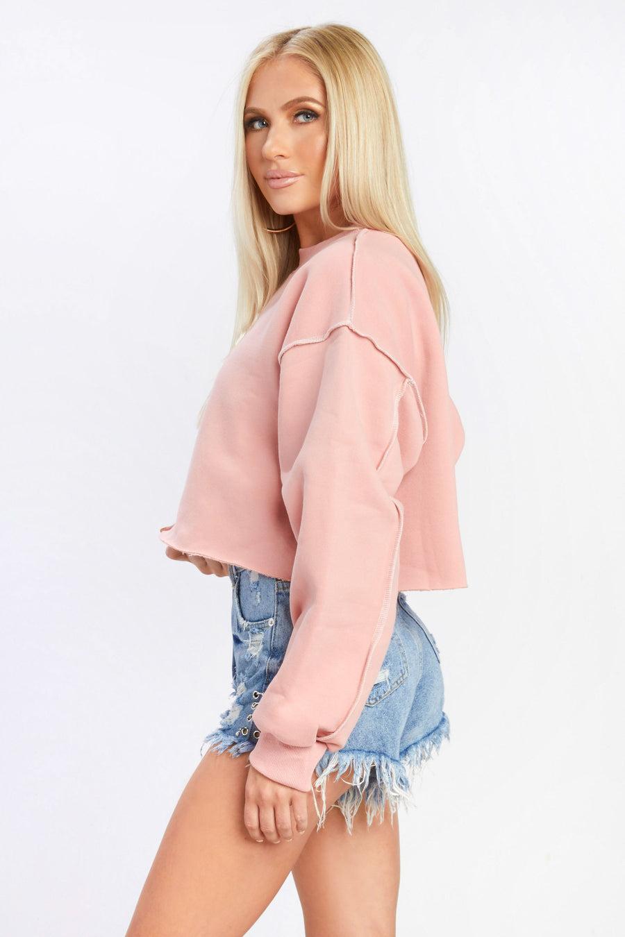 Santa Monica Cropped Sweatshirt