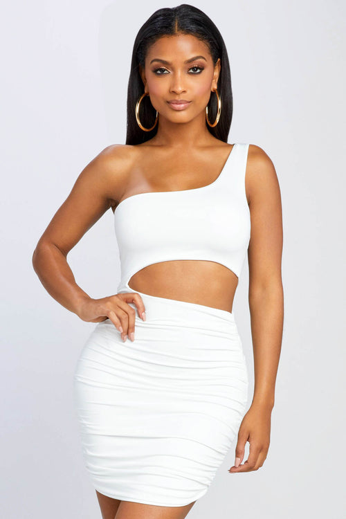Against The World One Shoulder Dress