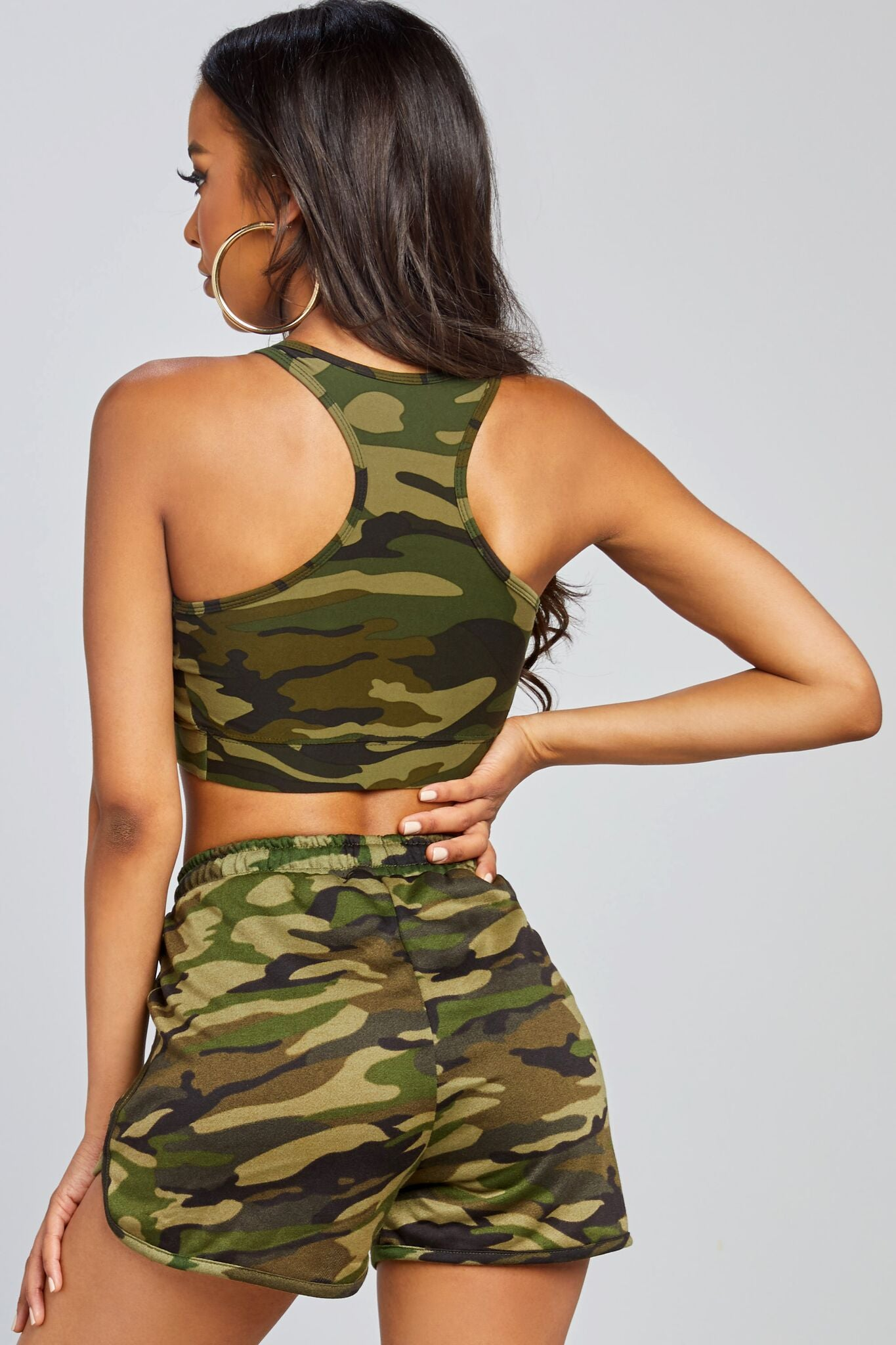 Back and Forth Camo Shorts