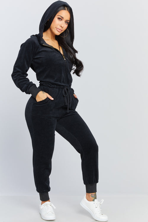 Honeybum Velour Jumpsuit