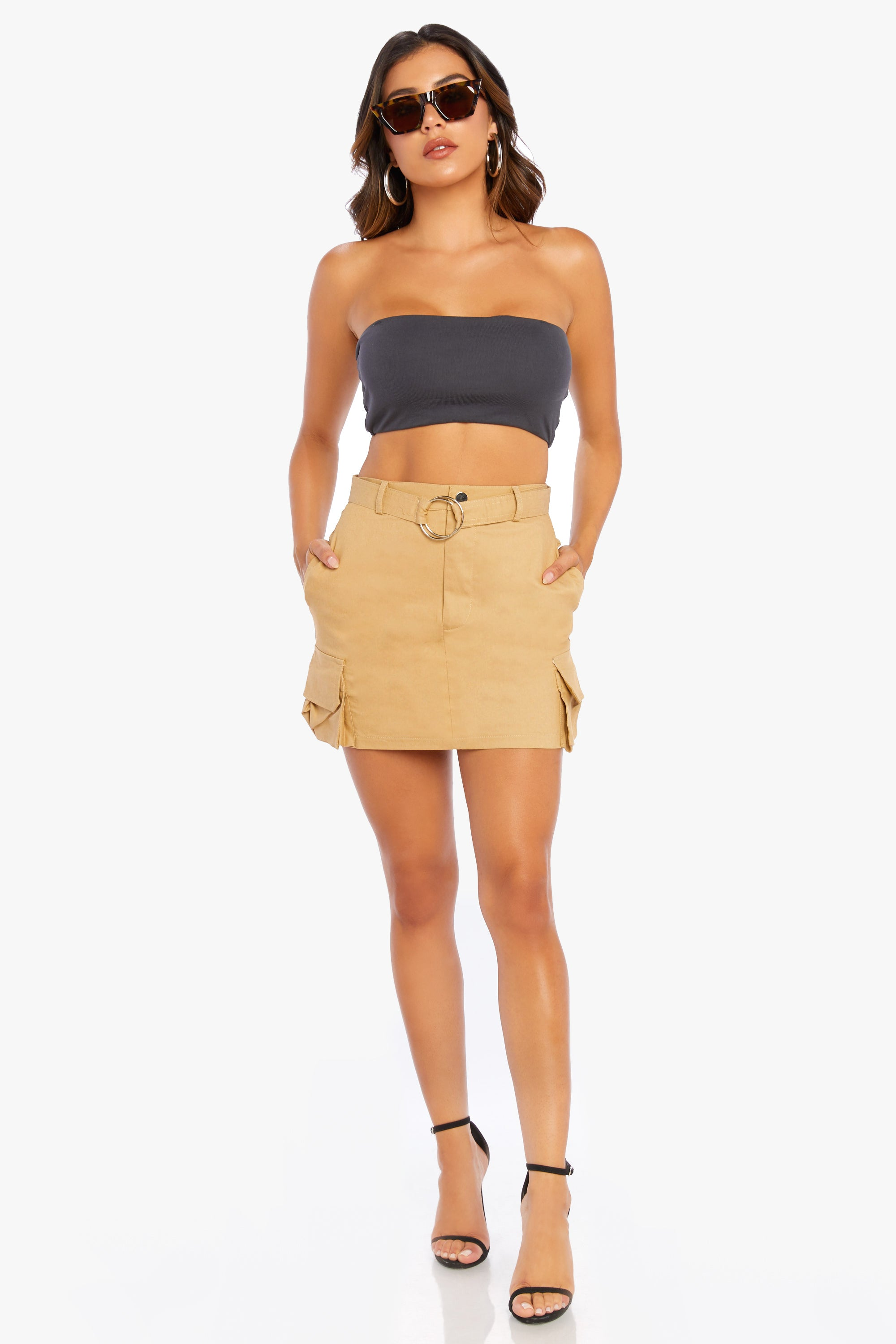 Don't You Forget Belted Mini Skirt