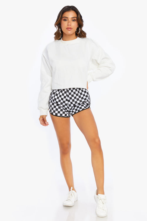 Challenge Checkered Track Shorts