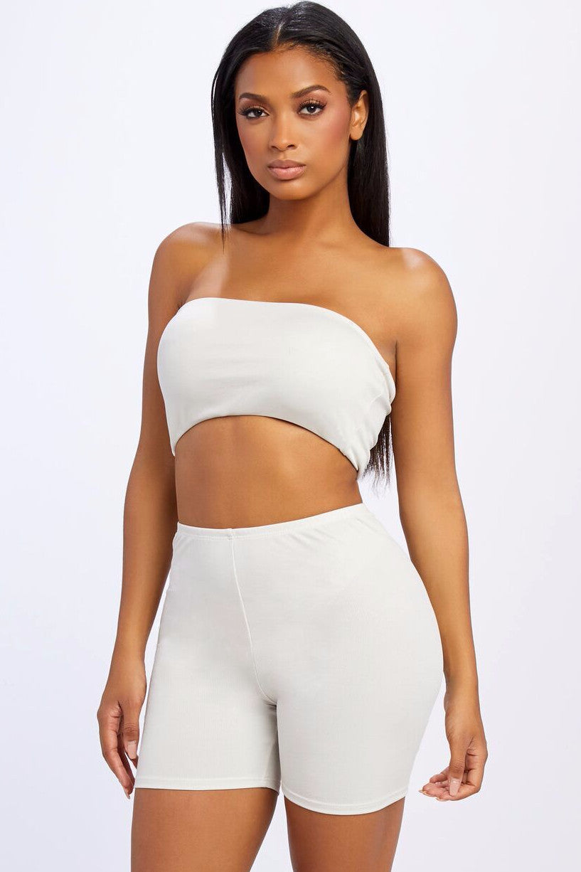 Saint Ribbed Tube Top