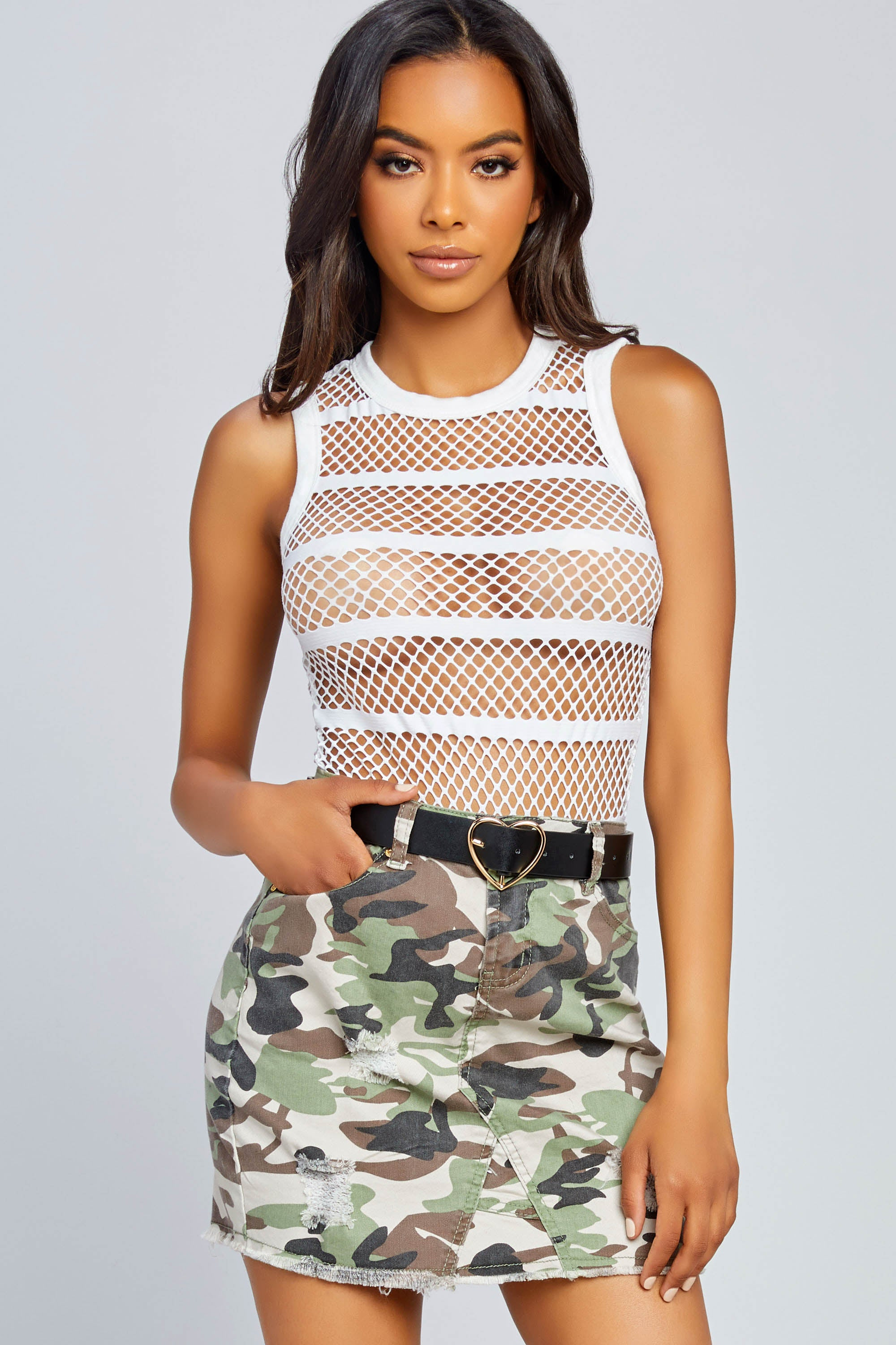 All By Myself Fishnet Bodysuit