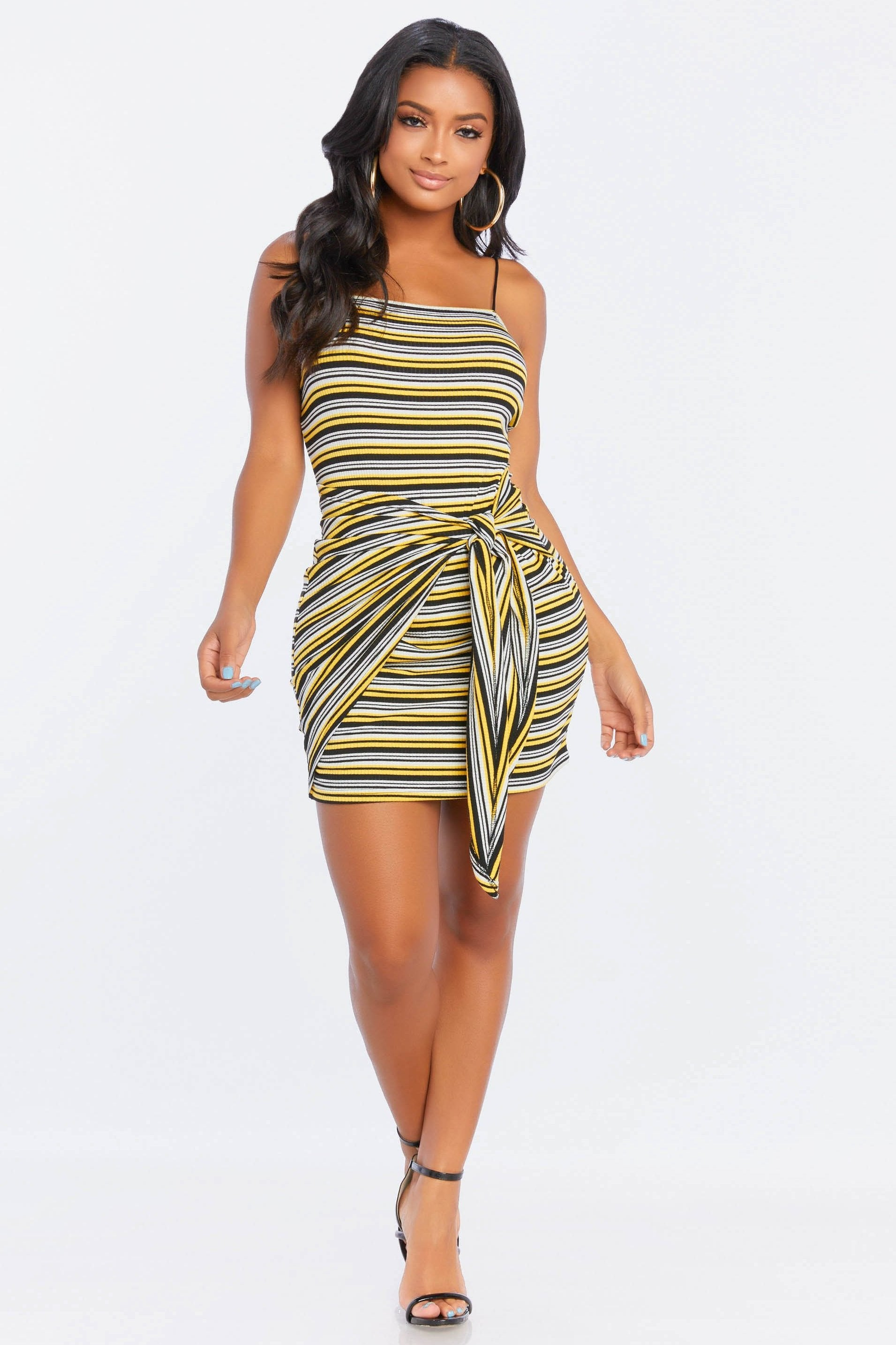 New To Town Striped Dress