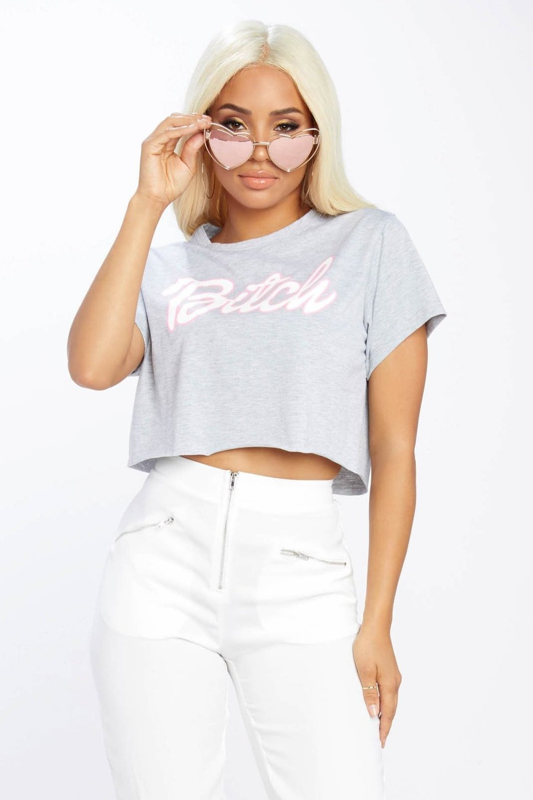 Bitch Crop Top
