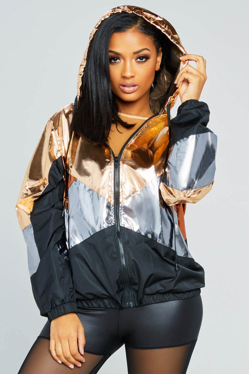 Preston Metallic Windbreaker Jacket