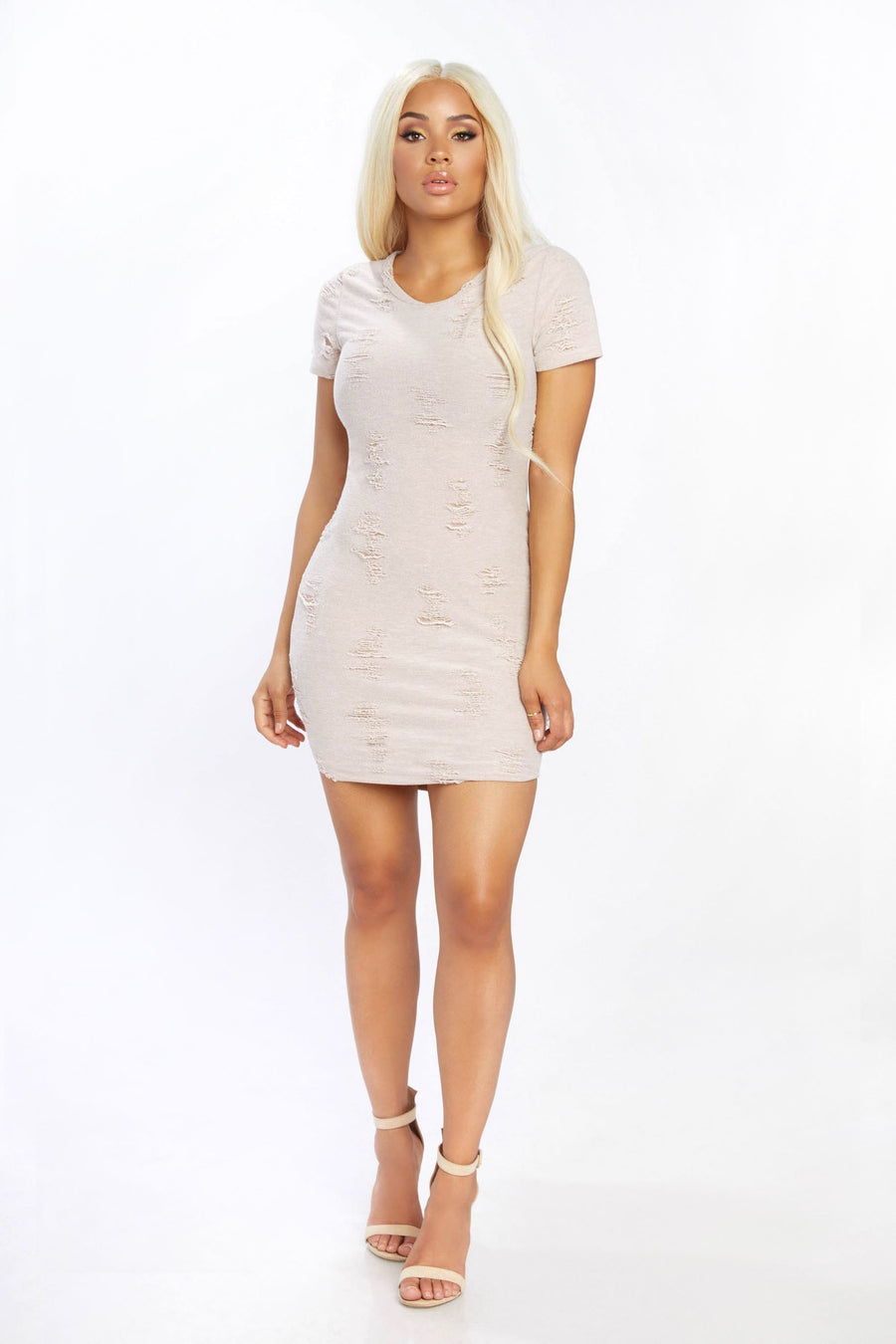 Roughing It Distressed Dress