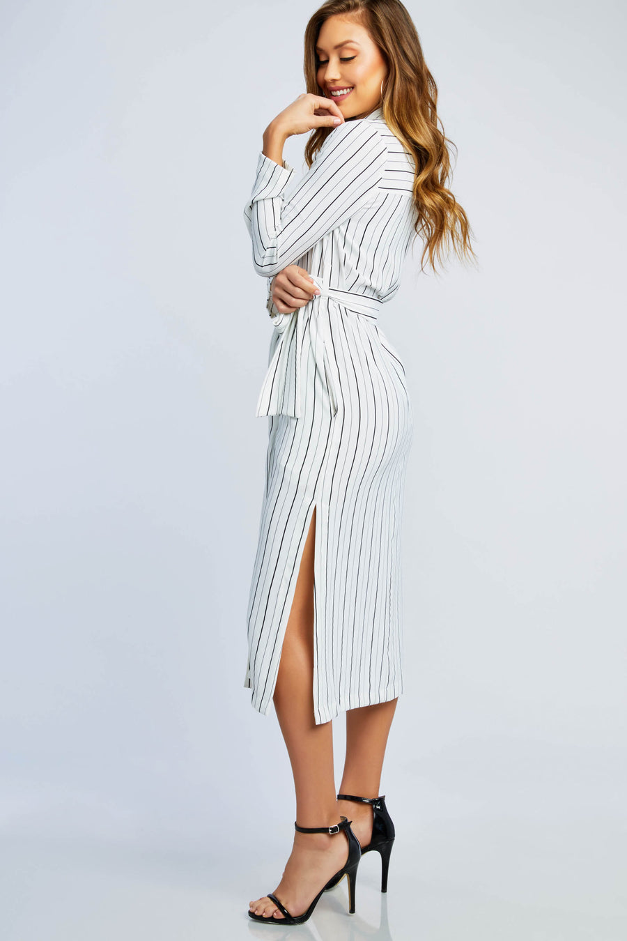 Soul Mate Striped Wrap Dress