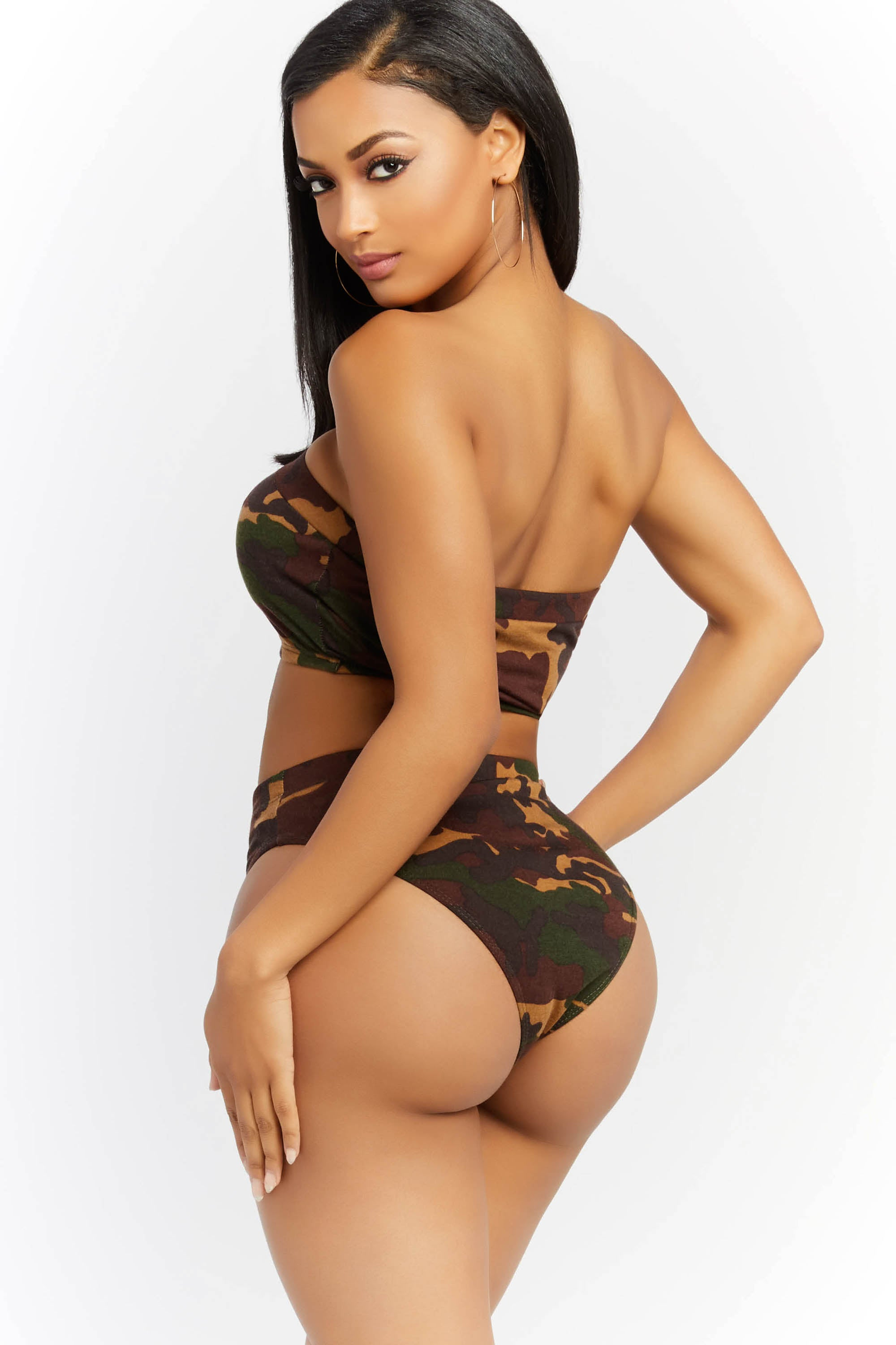 Let It Happen Camo Tube Top