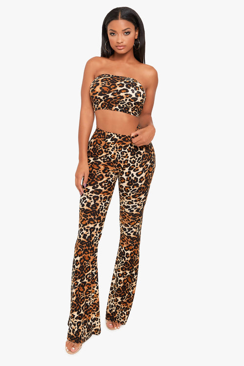Growl Cheetah Flare Pants