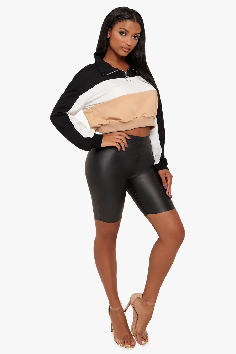 Feeling Classy Leather Biker Shorts