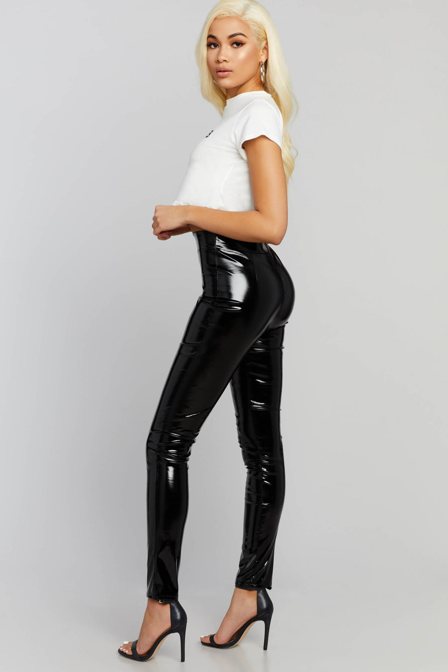 Side Chick Patent Leggings
