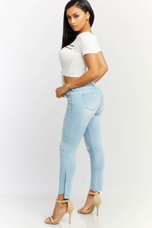 Ines Distressed Jeans
