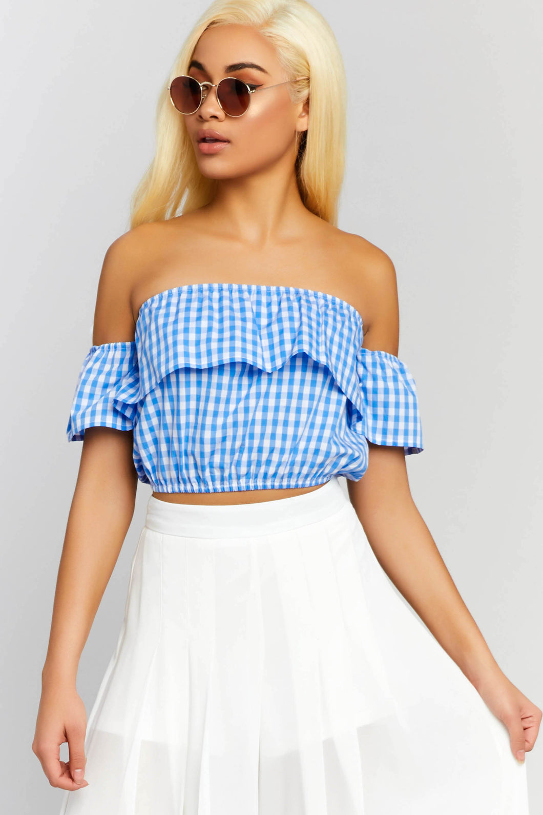 Find Me in Wonderland Gingham Top
