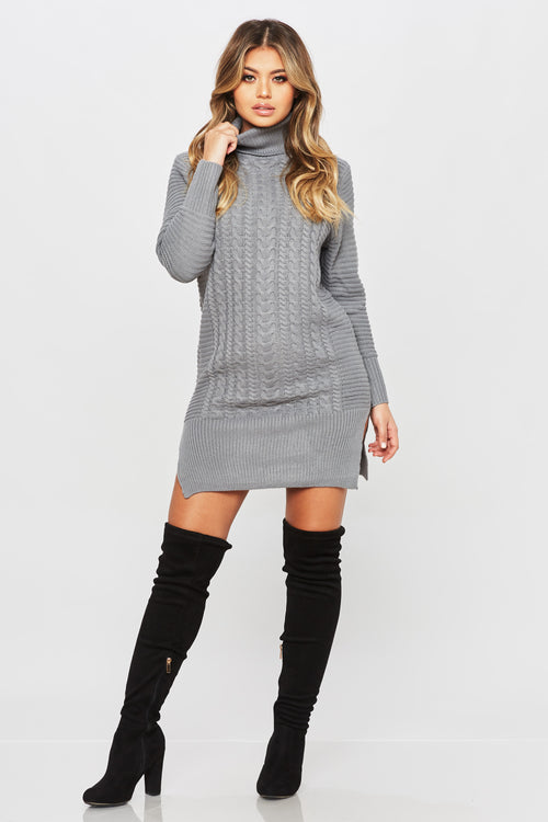 Sweater Weather Dress - HoneyBum