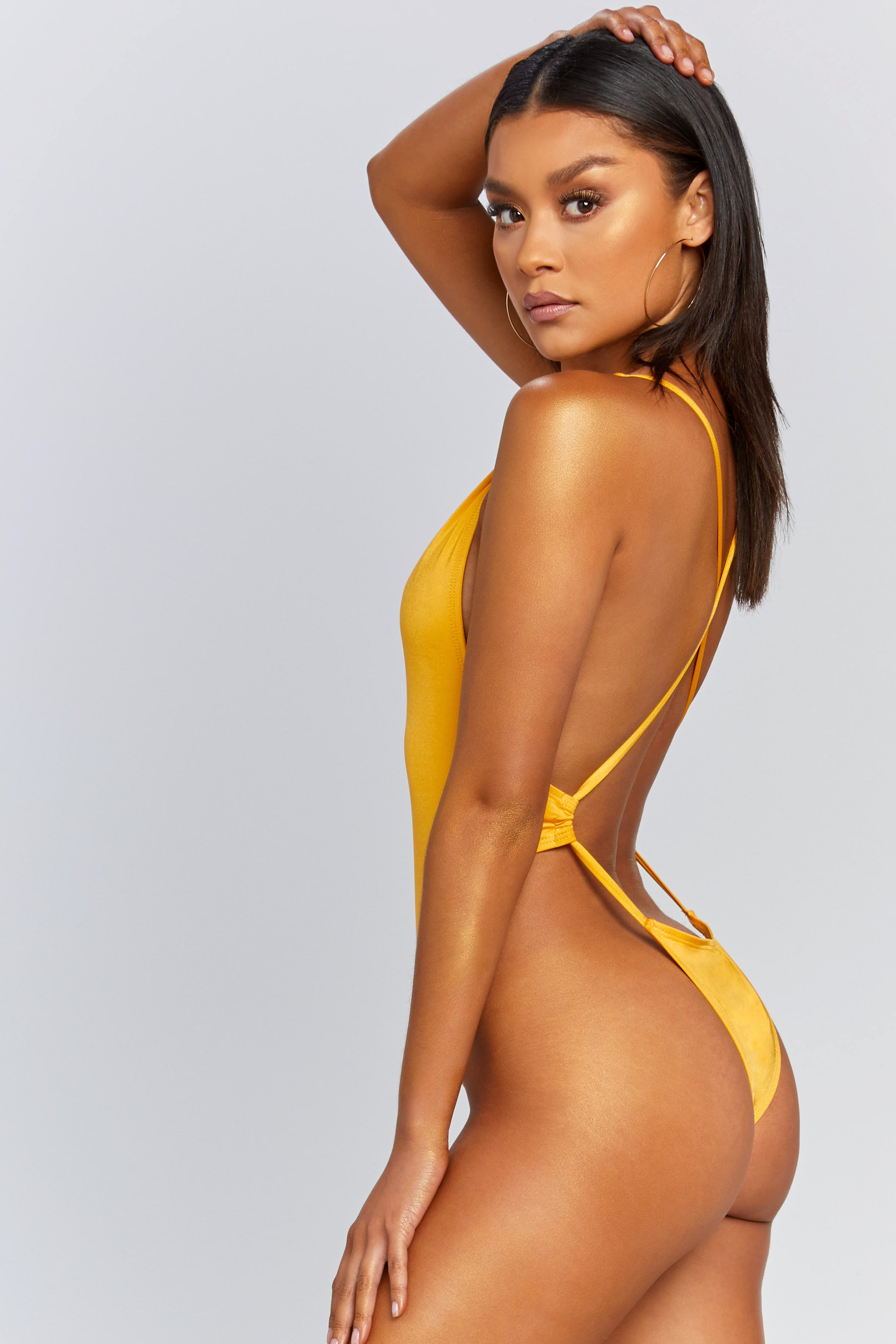 Plunging Crossback Cheeky One-Piece