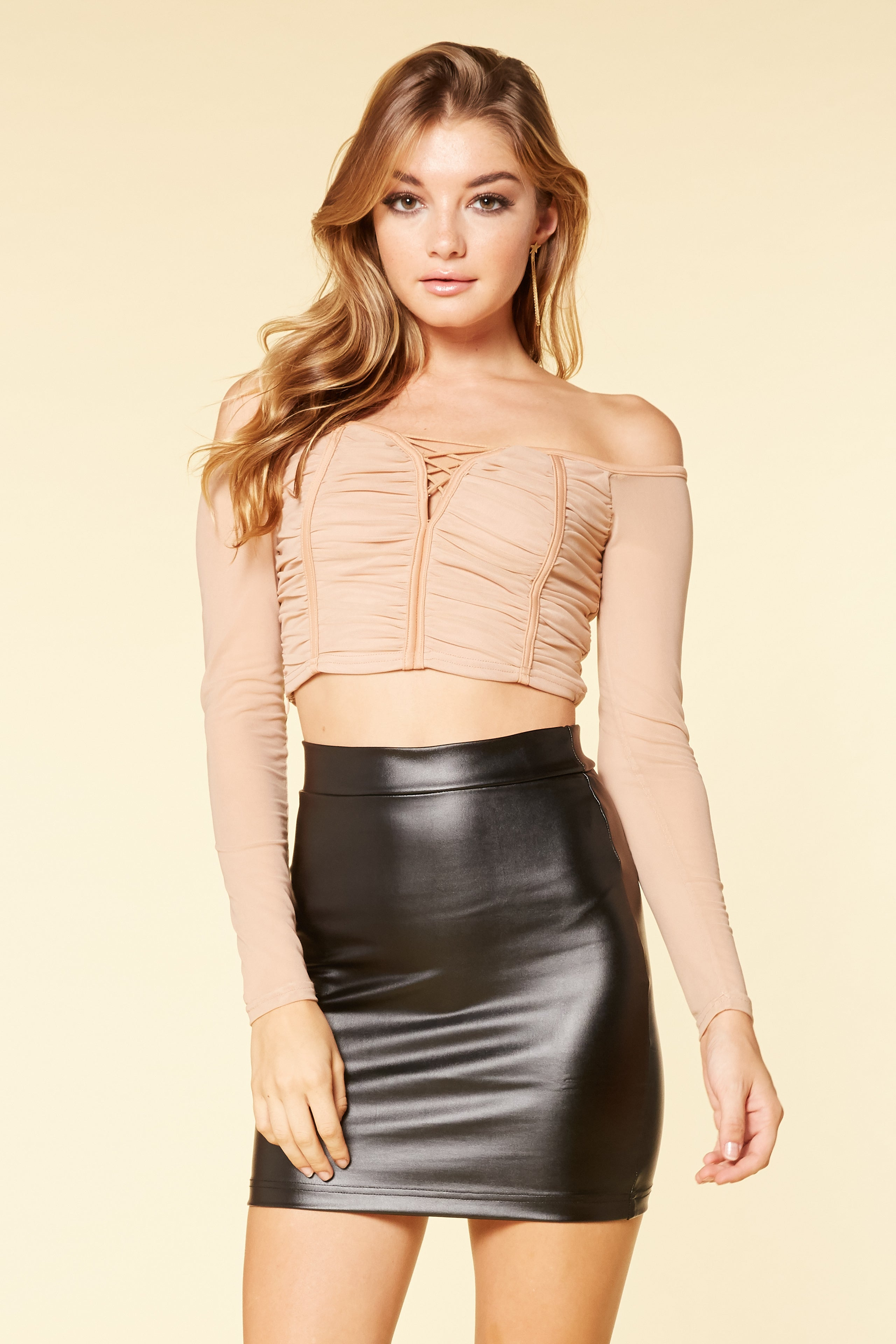 Have Mercy Mesh Crop Top - HoneyBum