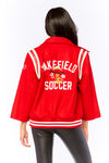 Out Of Your League Varsity Jacket - HoneyBum