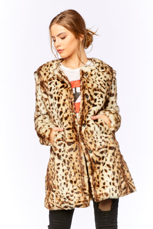 Hendrix Fur Coat - HoneyBum
