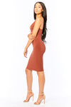 On The Rise Midi Dress - HoneyBum