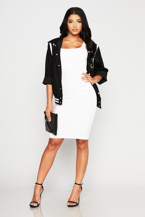 Plaza Hotel Midi Dress - HoneyBum
