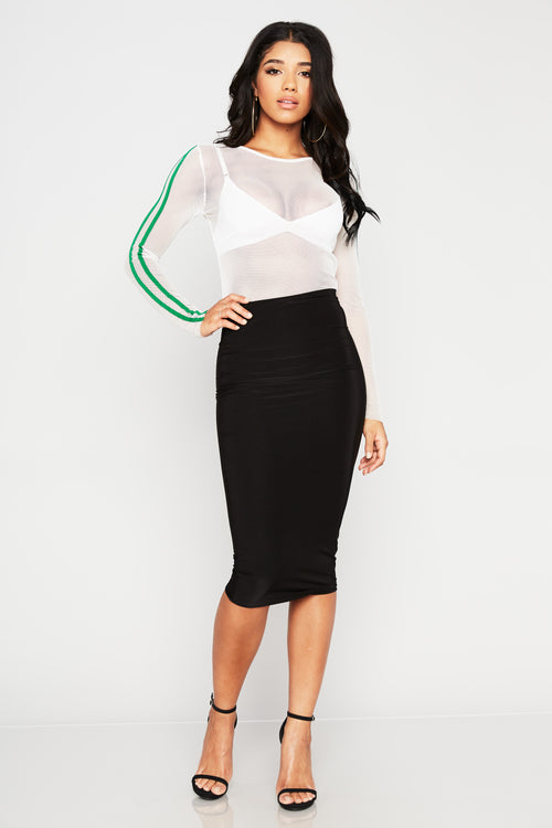 Fantasy Midi Skirt - HoneyBum