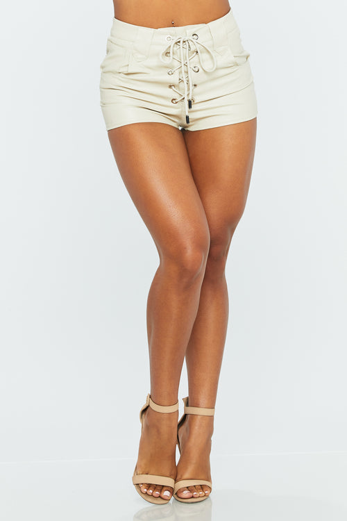 Chance Vegan Leather Short - HoneyBum