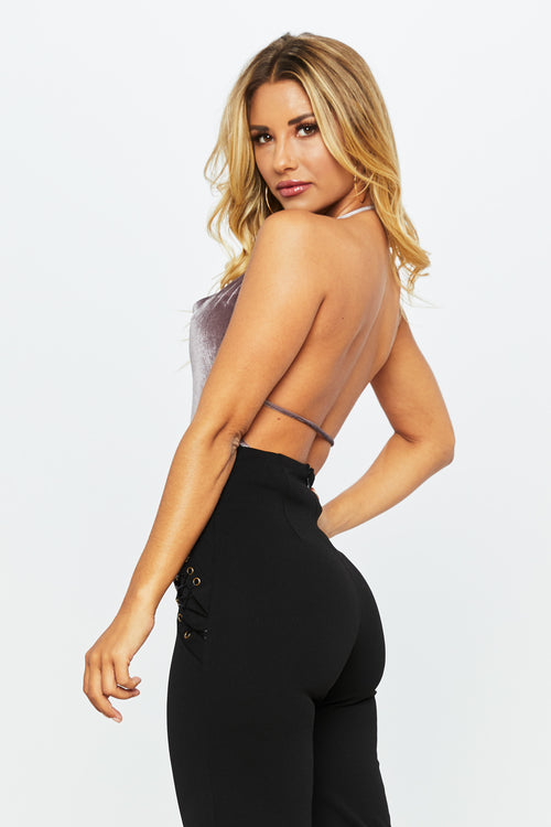 Money Maker Velvet Top - HoneyBum