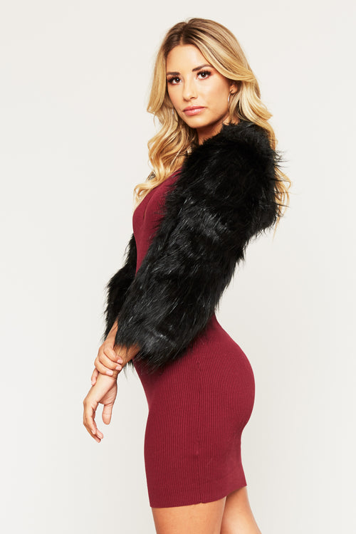 Wild Thoughts Faux Fur Jacket - HoneyBum